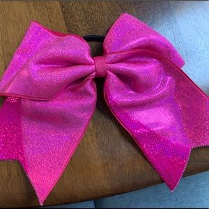 Accessories - Shiny Pink Cheer/Dance Bow